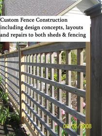 Wooden fence design built at hurtubise cv