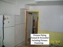 Furnace  piping  and drywall renovation cv