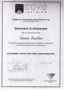 20071130   skid steer loader operatons cv