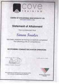 20080912   conduct eccavator operations cv