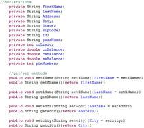 Javacode4 get set cv