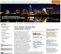 Center website homepage cv