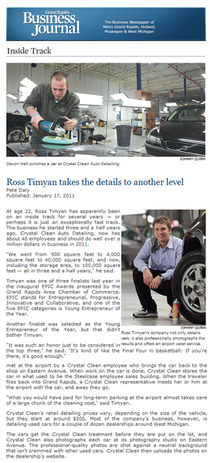 Grand rapids business journal article ross timyan cv