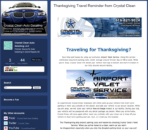 Thanksgiving travel reminder from crystal clean   crystal clean auto detailing cv