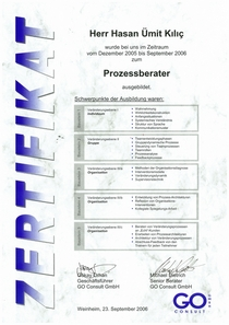 Zertifikat go cv