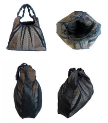 Leather chiffon hobobag cv