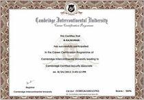 Ccsa certificate cv