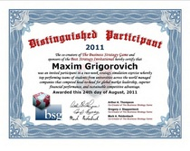 Bsg certificate cv