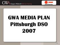 Gwa media plan pittsburgh cv