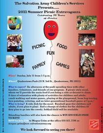 2011 salvation army chilren s services annual picnic flier 1 cv