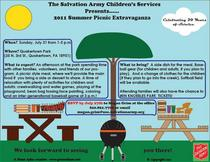 2011 salvation army chilren s services annual picnic flier 2 cv