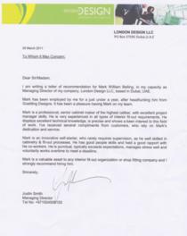 London design ref letter cv