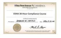 Osha 30 hr compliance course 03 18to22 2011 cv