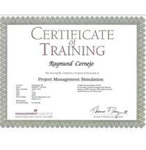 Pm simulation training cert   2010 cv