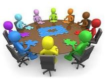 All hands at the table   their piece of the solution cv