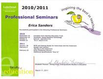 Prof seminars cv