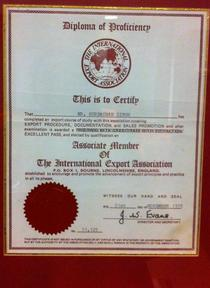 Assosiate member of international export association cv