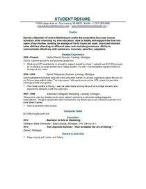 Graduate resume examples cv