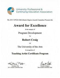 Upcea award cv