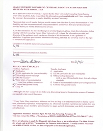 Shaw university application3 cv