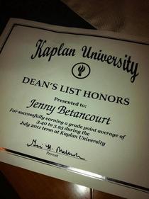 Dean s list cv