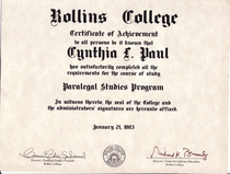 Rollins diploma cv
