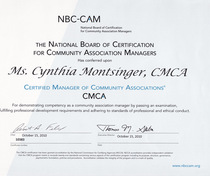 Cmca certification cv