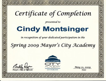 Mayors academy certification cv