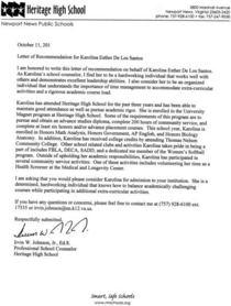 3rd recommendation letter cv