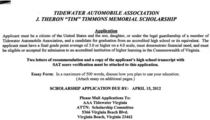 Scholarship app cv