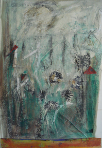 Prolific print and mixed media 40 x26 2010 cv
