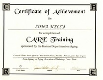 Care assestment training cv