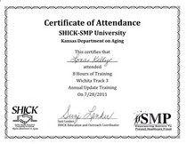 Shick medicare training 3 cv