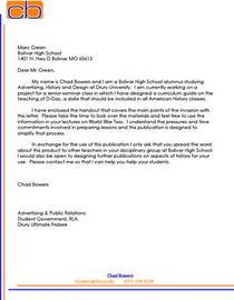 Signature letter cv