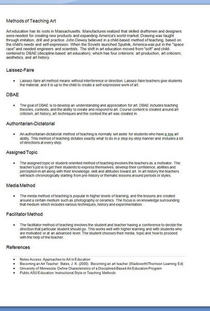 Methodsartteaching cv