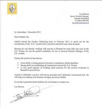 Letter of recommendation by luc breton cv