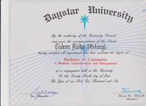 Degree certificate 001 cv