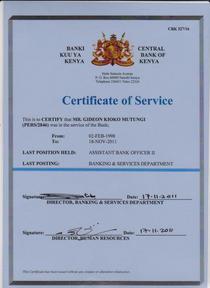 Certificate of service 001 cv