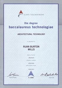 Btech degree cv