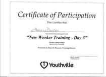 Training 3 cv
