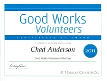 Volunteer of year award cv