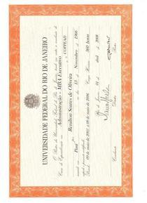 Mba certificate ufrj cv