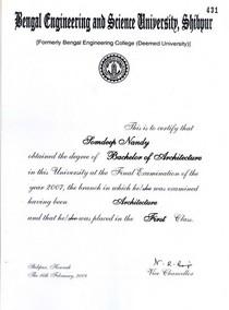 Cirtificate barch cv