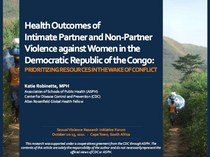 Health outcomes of partner and non partner sexual violence in the d... 2 cv