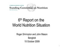 World nutrition report presentation cv