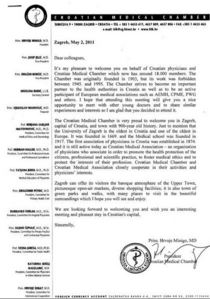 Croatian medical chamber cv