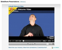 Linkedin welcome video cv