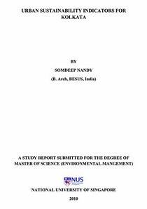 Somdeep masters thesis urban sustainability indicators for kolkata cover cv