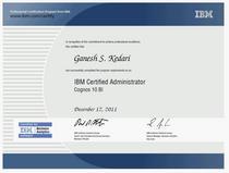 Ibm certified cv