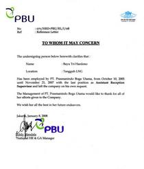Copy of reference letter cv